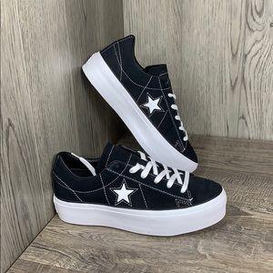 Converse One Star Platform OX black/black/whit 69c
